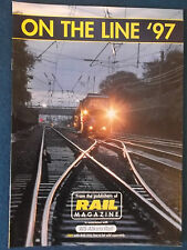 On The Line '97 - Supplement Magazine produced by Rail Magazine.