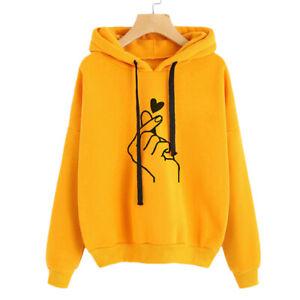 Women Long Sleeve Sweatshirt Hoodie Jumper Pullover Tops Blouse Sweater Shirts