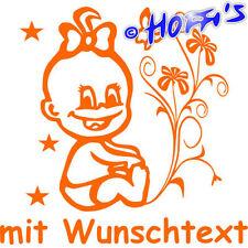 Premium Hoffis BABYAUFKLEBER Baby Autoaufkleber+ Wunschname Kinderaufkleber 1304