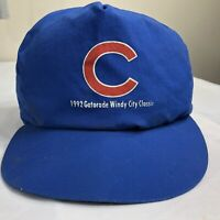 VTG 1992 Reversible Chicago White Sox Cubs Hat Windy City Classic MLB Cap 90s