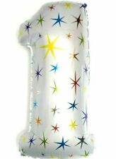 R23F1 XXL Helium Folienballon Deko Zahlen eins Zahl 1 Kinder Geburtstag Geschenk