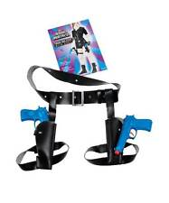 TWIN THIGH HIGH HOLSTER WITH FAKE PLASTIC GUNS, FANCY DRESS ACCESSORY