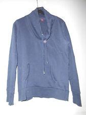 Esprit--Dunkelblaues Damen-Langarm-Sweatshirt,raffinierter Kragen,Gr.XL,1xgetr.