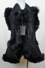 Long Women 100% Shearling Leather Sheepskin Long Haired Toscana Vest Fur S-5XL