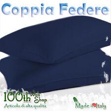 COPPIA FEDERE 52X82 100% COTONE BLU SCURO FEDERA GUANCIALE CPFDBLSC
