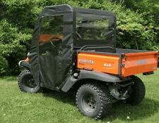 Kubota RTV 400 Black Doors, Rear Window and Top Soft Cab Enclosure