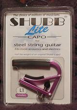 Shubb L1 Lite for Steel String in Violet Aluminum NIB FREE Shipping