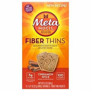 Metamucil Fiber Thins Cinnamon Spice Flavored Dietary Fiber Supplement Snack ...