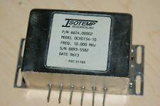 Isotemp 10 MHz Ovenized 10 MHz Oscillator  OXCO 134-10 12 VDC Sine Wave Output