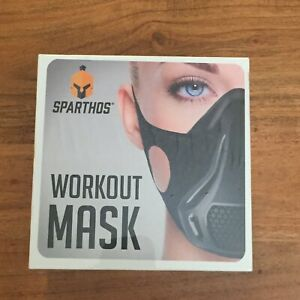 """Sparthos Workout Mask """"Crush The Limit"""" Fitness High Altitude Simulation Sealed"""