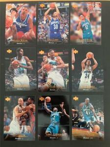 1995/96 Upper Deck Charlotte Hornets Team Set 9 Cards