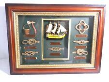 Quadro con nodi marinari e nodi dei Velieri più famosi da collezione