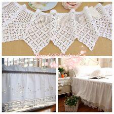 "8""*1Y Vintage Hand Crochet Lace Trim~White~Cotton~Snowflake~Victorian Elegance~"
