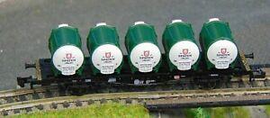 """FLEISCMANN 8233K   SPATEN container wagon    """"BOXED""""  N Gauge (F1240)"""