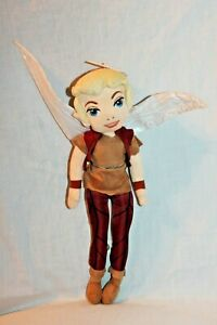 """NEW WITH TAG TINKERBELL DISNEY WALT DISNEY PARKS TERENCE BOY FAIRY  PLUSH 13"""""""