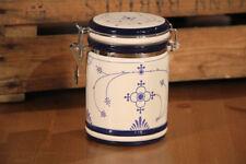 Vorratdose indisch blau mit Bügelverschluß ca. Ø: 12 cm x 17,5 cm Keramik