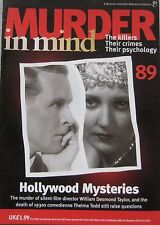 Murder in Mind No 89 - Hollywood Mysteries, William Desmond Taylor , Thelma Todd