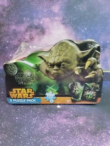 🔥New Star Wars Heroes Yoda 2-Pk Puzzle Collectible Tin 100 Pieces Each - Disney