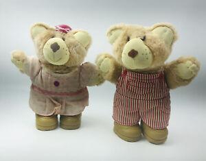 DUDLEY & GIRL Furskin Plush Stuffed Bear Animal Wendys Toy Furskins Bears 1986