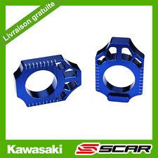 TENDEUR CHAINE KAWASAKI KX KXF 125 250 450 KX125 KX250 KX250F KX450F BLEU SCAR