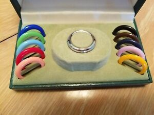 Vntg. Gucci Box w/ 11 Bezels + Non-working Gold Plated Bangle Watch