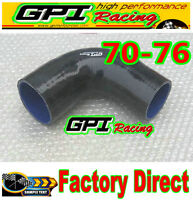 "Silicone 90 Degree Reducer Elbow Hose Tube Pipe 70mm -76mm 2.75""- 3"" intercooler"