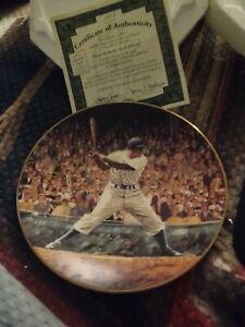 """JACKIE ROBINSON: SAVED PENNANT"" Bradford Exchange Collectors Plate w/ COA"