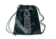 Turnbeutel schwarz Cheerleader Gymsac Cheer Beutel Tasche bedruckt mit Glitzer
