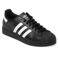Mens Adidas Originals Superstar 2 Trainers Retro Black White Size 8 9 10 11 12