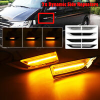 2PCS Dynamic LED Side Repeaters Indicator Light For VW T6 Transporter Caddy