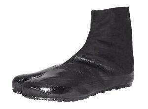 All black Jitsuyo Water Repellent Practical Japanese Tabi Ninja Shoes 5 clips