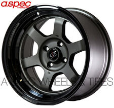 15X8 +0 ROTA GRID-V 4X114.3 GUN METAL BLACK WHEEL FIT 240SX S13 260Z 280Z 4X4.5