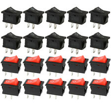 Set 20pcs Rocker Toggle Switch 10A/125V 6A/250V 2 Pin Car Boat Light ON/OFF