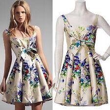 b076f4c7c04 Jill Stuart Collection Larissa Paris 100 Silk Floral Dress Sz 6 M