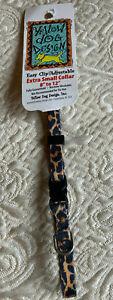 "LEOPARD Print XS Dog Collar 8""- 12"" Yellow Dog Design NEW W/TAG FREE USA SHIP"