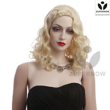 【Sale】long wave wigs women wigs gold color female wigs hair full cap hair