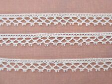 Vintage Trim. Cluny Lace Ivory Cotton 1/4 inch