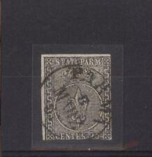PARMA 1852  GIGLIO BORBONICO 10 CENT. SASSONE NR.2 VAL. €.250,00 USATO (622)