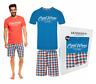 Herren PyjamaSchlafhose Schlafanzug  Shorty HENDERSON 36827 100% Baumwolle Set