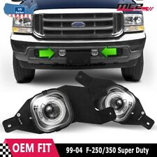 For Ford F-Series 99-04 Factory Replacement Halo Projector Fog Light Clear Lens