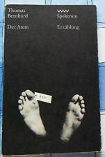 Thomas Bernhard Der Atem Eine Entscheidung Erzählung Spektrum 138  1980 DDR