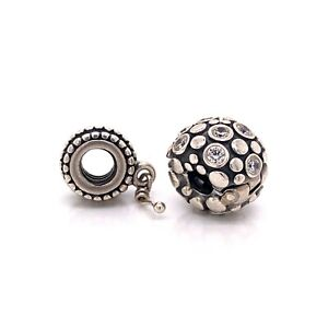 2 Genuine Sterling Silver Pandora Beads! 1 Clips Crystal/Sterling 1 Sterling! 6