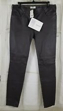 Authentic Balenciaga Dark Brown Stretch Leather Skinny Pants Sz 42 10 $2K NWT C1