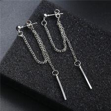 3f9872fed4f5 Pendientes de Cadena de Borla Plata Punk Clip de oreja joyería de oreja  dobladillo Mujer Hombre Nuevo