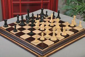 "The Capablanca Series Luxury Chess Pieces - 4.0"" King Genuine Ebony and Boxwood"