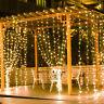 5M 300 LED Warm White LED Curtain String Fairy Lights Xmas Wedding Party Decor
