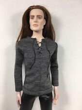 """Outfit For Matt O'Neill 17""""-Separate-Charcoal Gray Top-faux Lace Up"""
