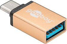 Adattatore USB 3.1 C-SPINA A PRESA USB 3.0 a caricamento dei dati & Oro SuperSpeed