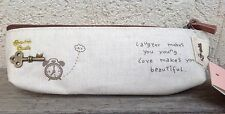 "Zakka Fashion Paris French  Make Up Pouch Pencil Case "" Life is journey"""
