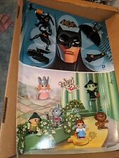 2013 McDonalds Wizard Of Oz & Batman Happy Meal Toy Display Complete Toys